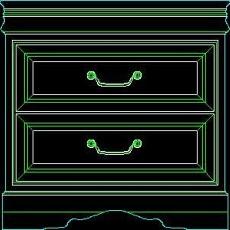 衣柜图块、床头柜CAD图块素材4--CAD空间素材