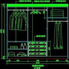 梳妆台、衣柜cad详图素材47--CAD空间素材