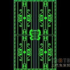 门图块004-铁艺门38个