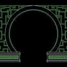 中式落地罩、中式隔断、活动式隔断、低隔断、高隔断CAD图块27--CAD图块素材