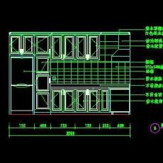 厨房实例CAD祥图7--CAD空间素材