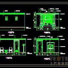 洗浴中心装修施工图纸、详图3套