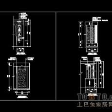玄关,隔断装饰施工图下载28个下载