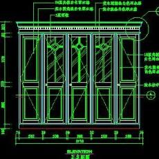 梳妆台、衣柜cad详图素材42--CAD空间素材