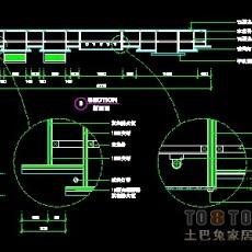 电器店、通讯店实套、道具实套装修施工图纸、详图9套