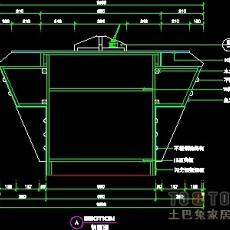填单台、柱子、营业厅门面实套装修施工图纸、详图15套