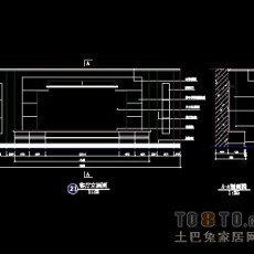 电视背景墙设计施工图免费下载22个