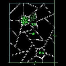 中式铺地、花街铺地、石材拼花CAD图块4--CAD图块素材