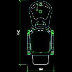 美容美发接待台、工作台装修施工图纸、cad详图素材101--CAD整体案例