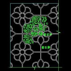 中式铺地、花街铺地、石材拼花CAD图块24--CAD图块素材