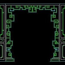 中式落地罩、中式隔断、活动式隔断、低隔断、高隔断CAD图块38--CAD图块素材