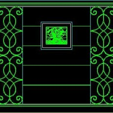 中式落地罩、中式隔断、活动式隔断、低隔断、高隔断CAD图块9--CAD图块素材