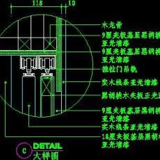 梳妆台、衣柜cad详图素材33--CAD空间素材
