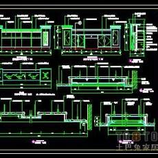 贸易公司、企业形象顾问公司装修施工图纸、详图各2套