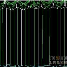 窗图块003-窗帘54个