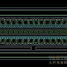 中式柱子图块34个