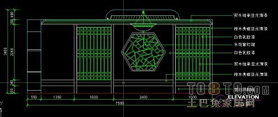 餐饮空间图纸素材001-餐厅包间详图(1)12套