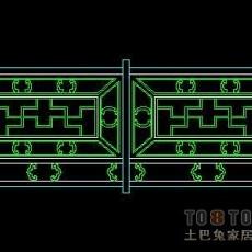 中式栏杆图块