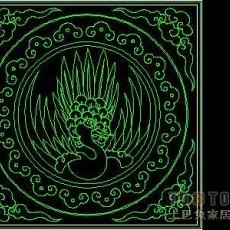 中式彩画图块