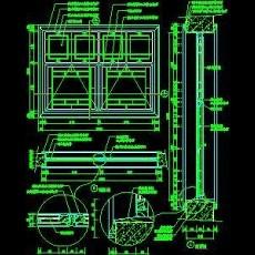 CAD窗详图