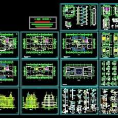 欧式风格办公楼施工图