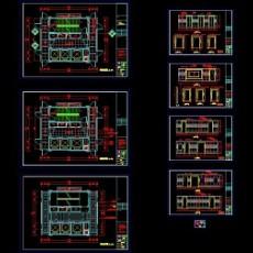 电梯厅及走道施工图