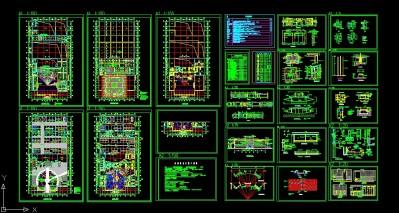 汽车展厅装饰施工图..施工图