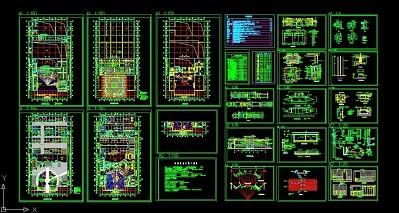 汽车展厅装饰施工图