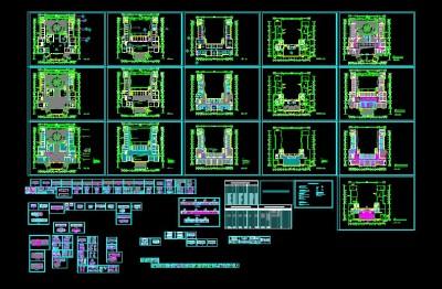 大型医院装修图施工图