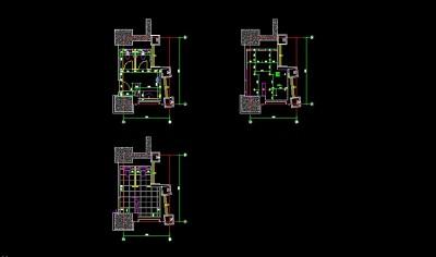 六层卫生间平面施工图