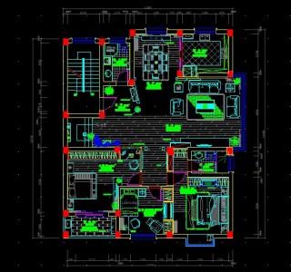 家庭装修施工图_家装整套CAD图纸-设计本CAD图块下载