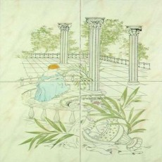 墙中花瓷砖材质-10789