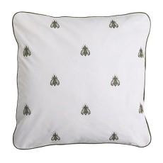 抱枕花紋白色布料貼圖