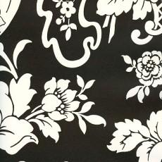 韩国黑色调花纹壁纸