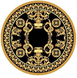 圆形花纹地毯贴图-17926