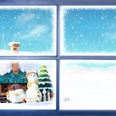 窗户外景贴图下载