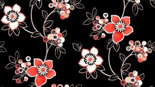 黑色现代风格墙纸贴图