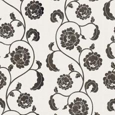 黑色花纹韩式墙纸贴图
