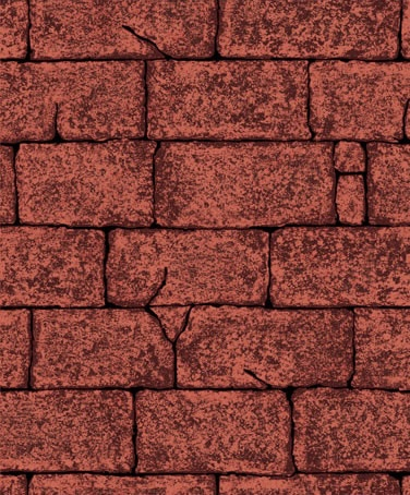 深红砖纹墙纸贴