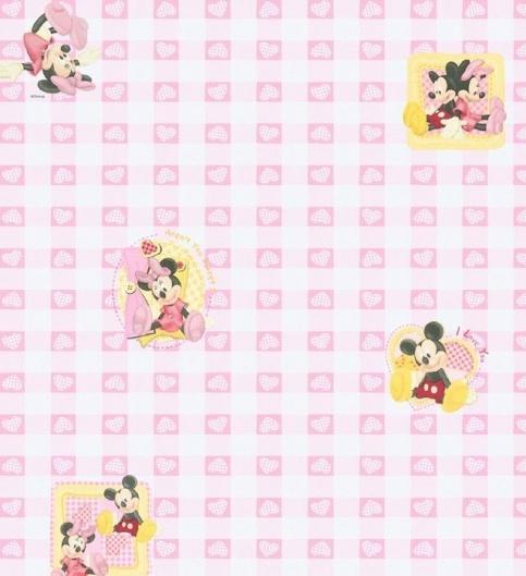 紫色韩式墙纸贴图