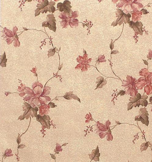 粉红系田园风格墙纸材质贴图