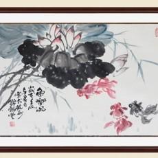 中式書法壁畫貼圖