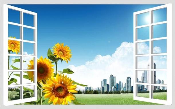 幼儿园教室窗户贴图