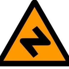 连续弯路标志图片
