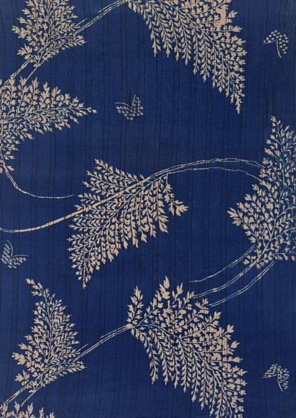 蓝色布纹墙纸贴图素材-24668