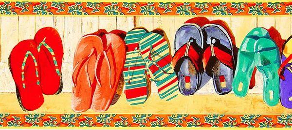 个性拖鞋壁画贴图-31934