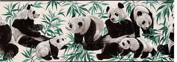 熊猫图案壁画贴图-31925