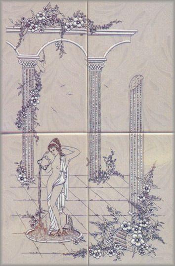 花紋浴室墻磚貼圖-39788