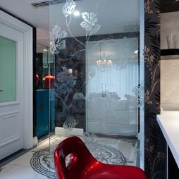 熊龙灯作品室内玄关玻璃隔断设计装修效果图