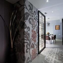 2017现代风格样板房家装餐厅过道装修效果图欣赏